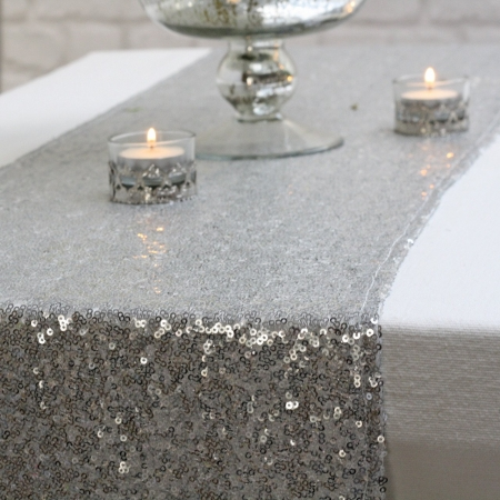 Ранеры пайетка серебро