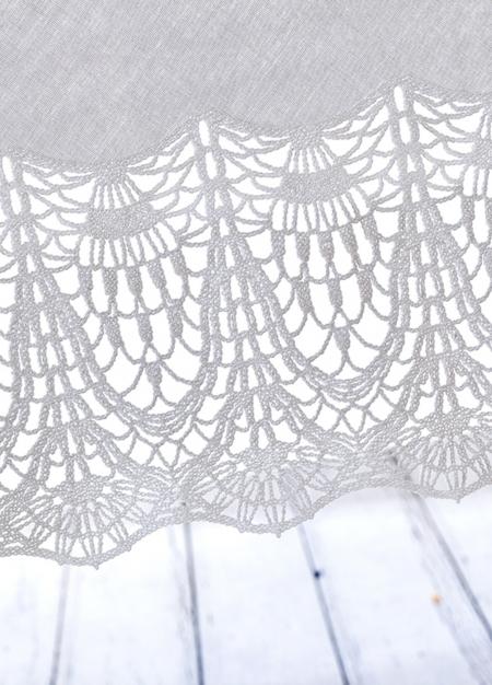 Скатерть белая ажур (152х228 см)