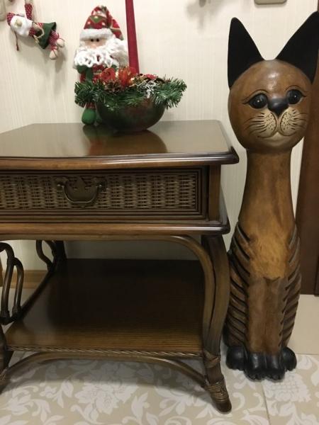 Большой деревянный кот