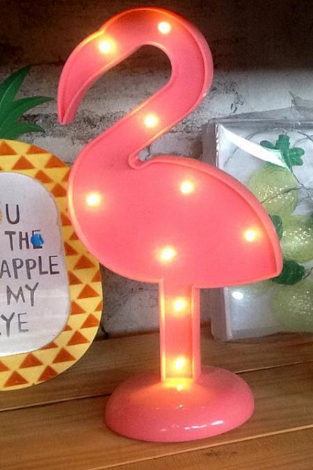 Фламинго с диодами