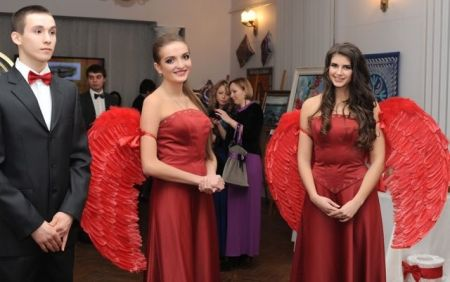 Хостес: красное платье (юбка+корсет)