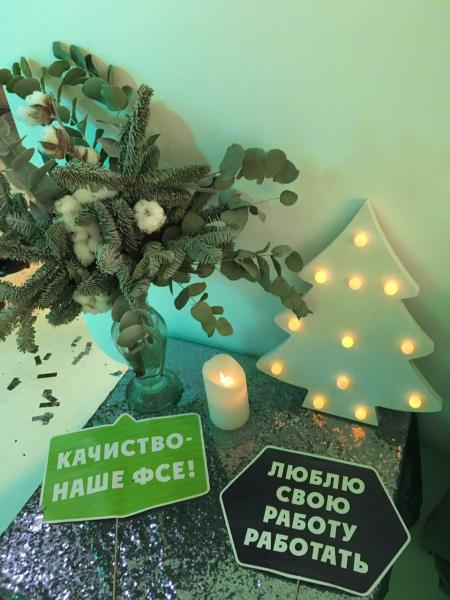 Деревянная елочка с диодами