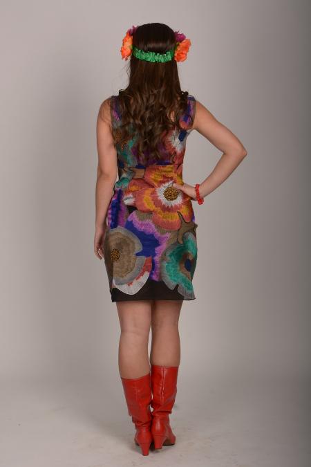 Платье украинское современное в цветы