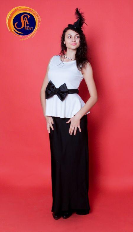 Платье в пол B&W