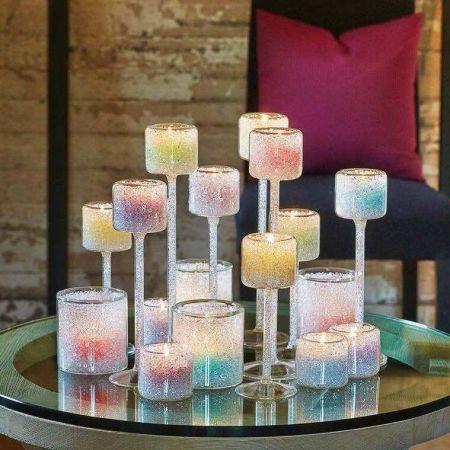 Аренда декоративных подсвечников Crystal на ножке 22 см | SAL-rent