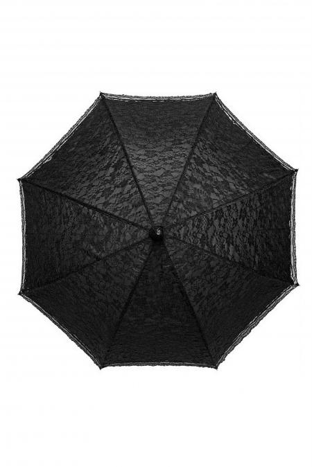 Зонт чёрный ажурный