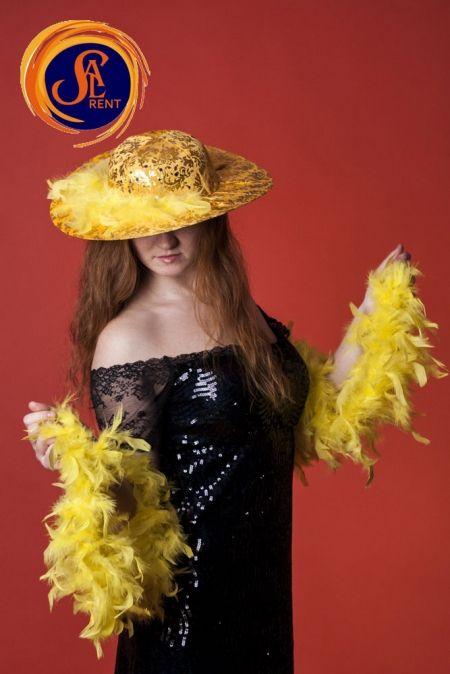 Шляпа с золотыми узорами