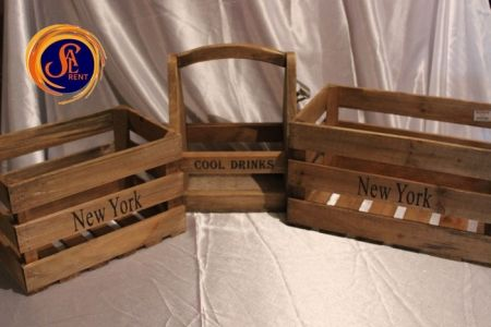 Деревянные ящики и корзинки