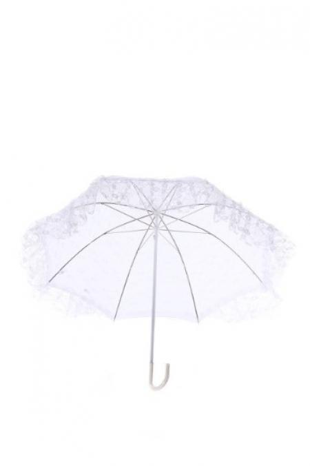 Зонт белый ажурный