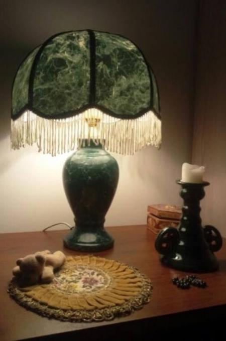 Лампа настольная «Малахит»