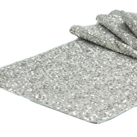 Салфетки пайетка серебро
