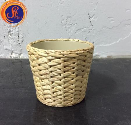Кашпо плетеное
