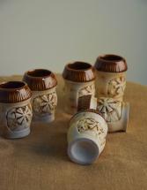 Рюмки глиняные