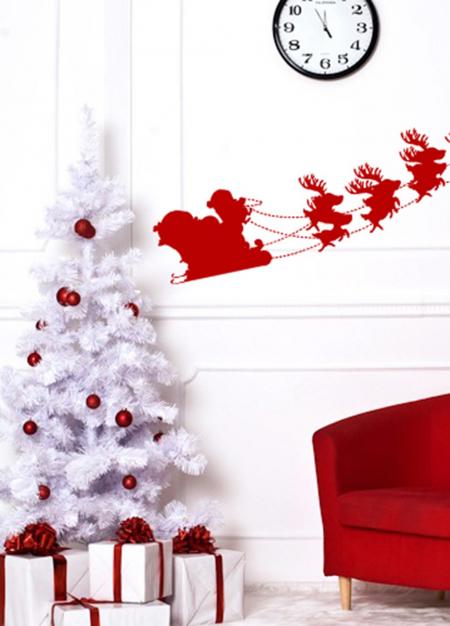 Наклейка с Дедом Морозом