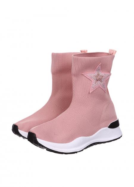 Спортивные сапожки розовые