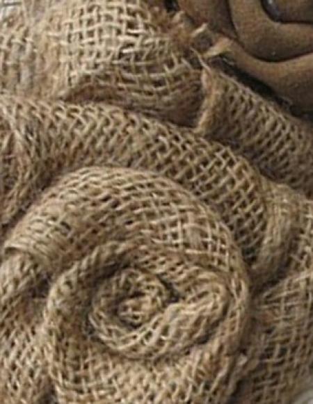 Ткань/отрезы из мешковины в ассортименте
