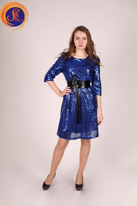 Платье синее (пайетки)