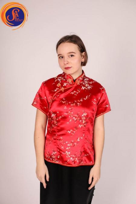 Пиджак в китайском стиле, красный