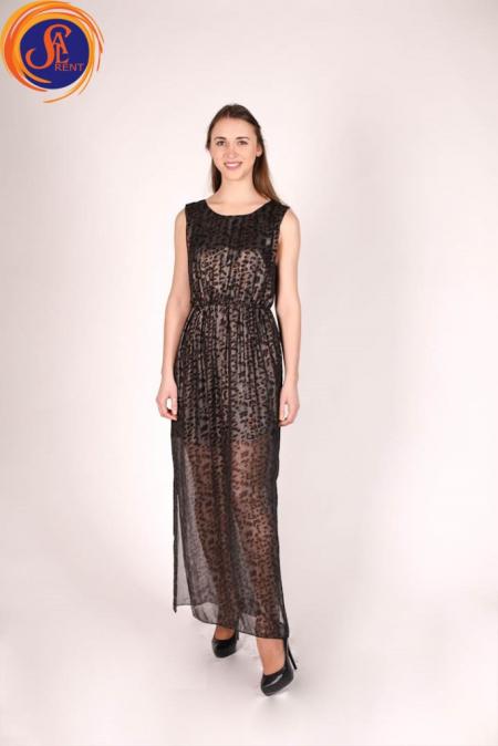 Платье коктейльное, леопардовый принт