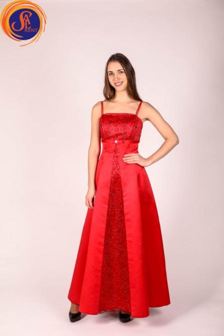 Платье вечернее, красное