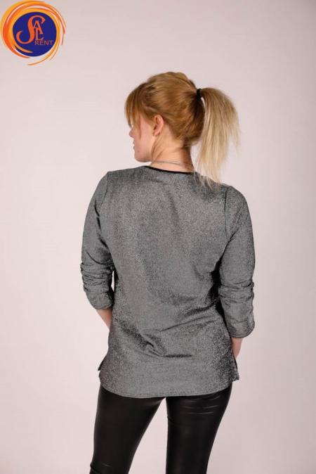 Блуза серебряная