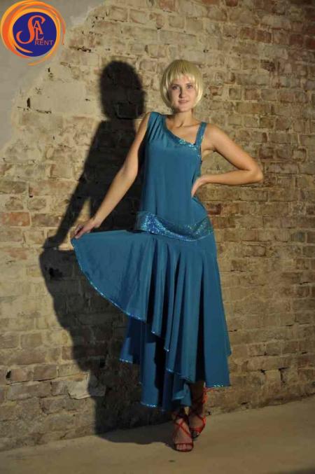 Платье голубое 30-е