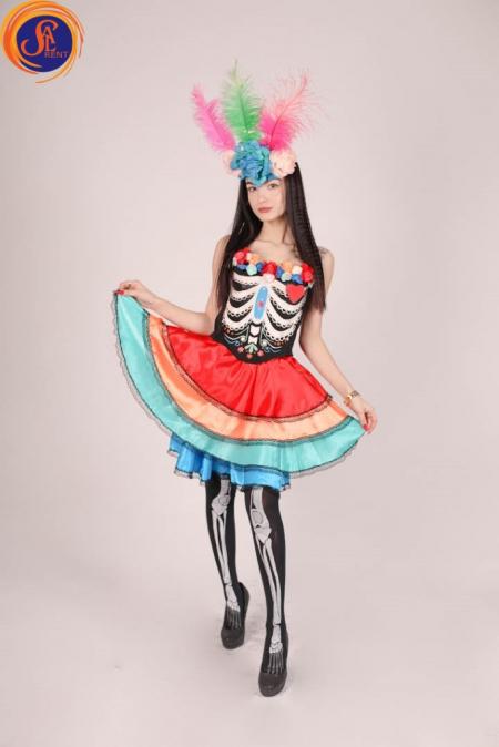Мексиканский костюм для Santa Muerte