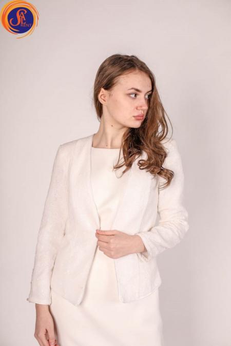 Пиджак белый пайетки