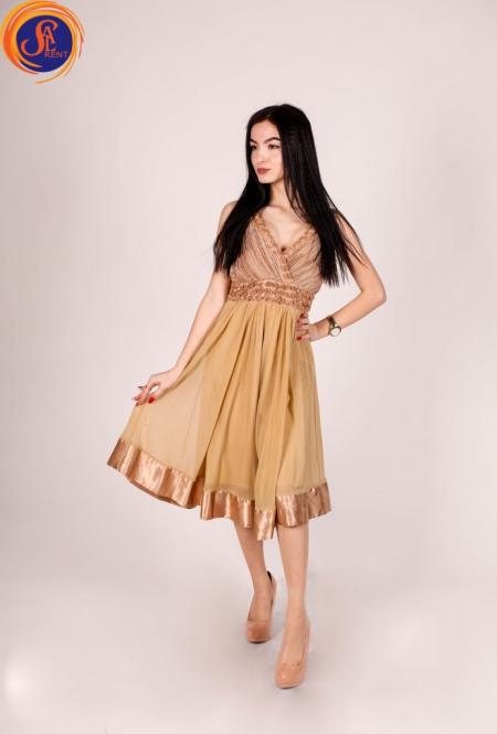 Платье шифоновое кремовое