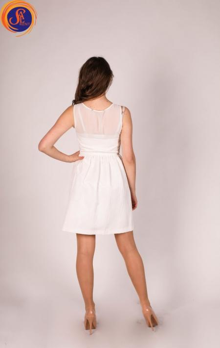 Платье белое мини
