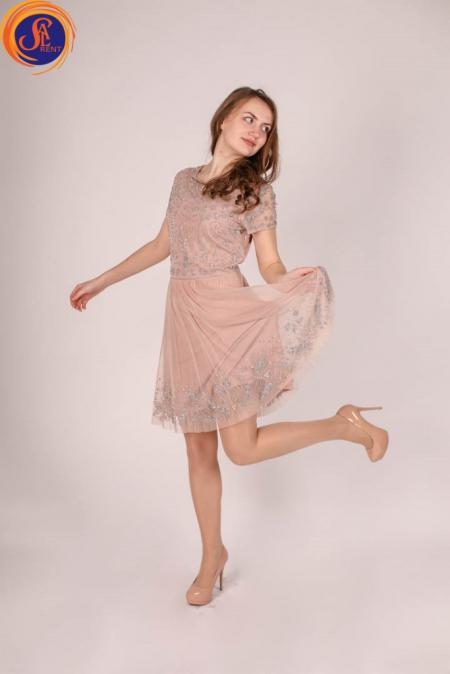 Платье Пудра в камнях