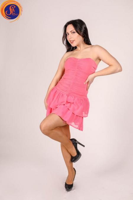 Платье Розовое секси