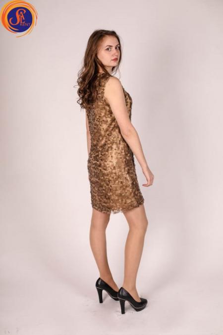 Платье Бронзовое в пайетку
