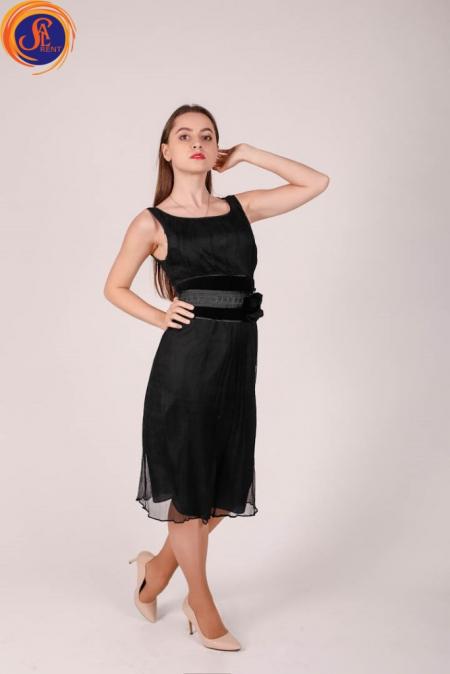 Платье черное шифон