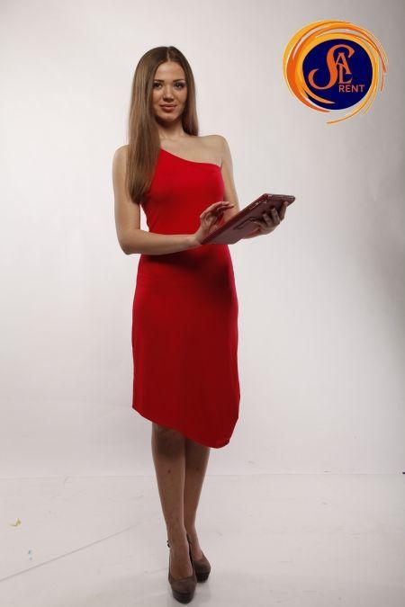 Хостес: красное платье