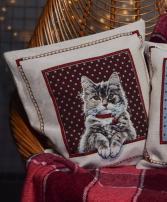Подушка с котом