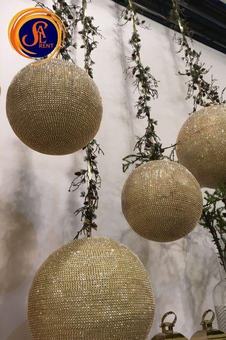 Большие Новогодние Шары 30см и 40 см в аренду, Киев | SAL-rent