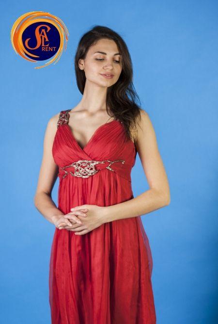 Хостес: красное платье с поясом напрокат. Киев | SAL-rent