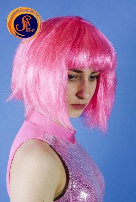 Парик на прокат розовый | SAL-rent