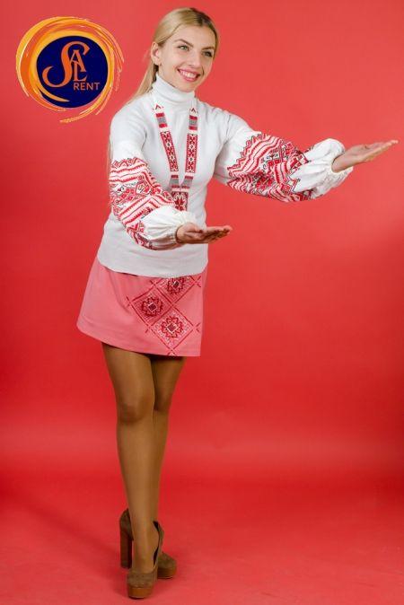 Украинский стилизованный розовый