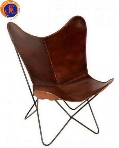 Кожаное кресло-бабочка