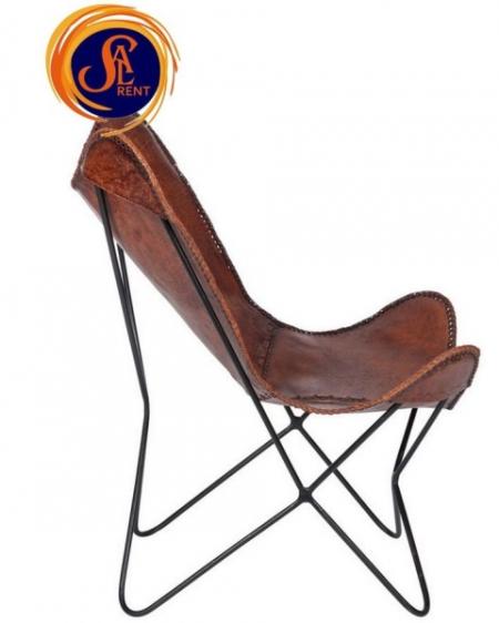 Кожаное кресло-бабочка раскладное, аренда в Киеве | SAL-rent