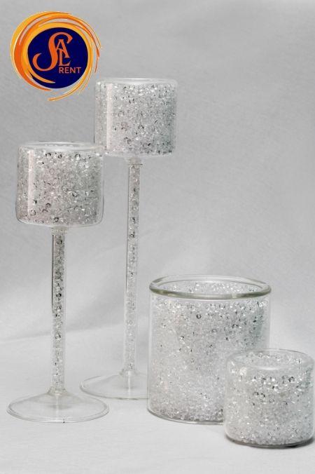Аренда маленьких подсвечников Crystal (5 см) | SAL-rent