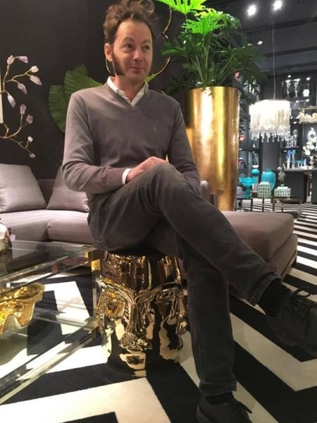 Аренда дизайнерского стула MING FACE GOLD золото | SAL-rent, аренда мебели