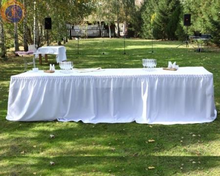 Аренда юбки на свадебный стол в Киеве | SAL-rent