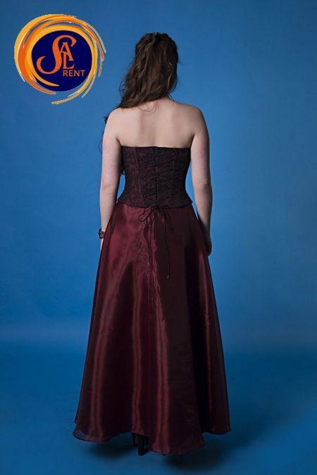 Прокат вечернего платья Бордо, юбка и корсет. Киев | SAL-rent