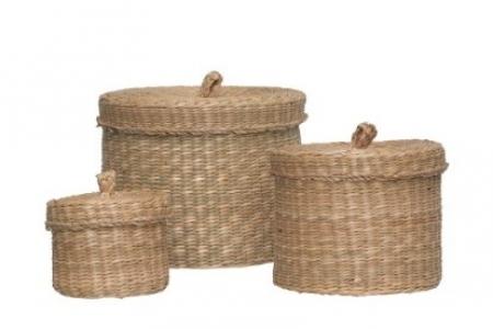 Шкатулки плетенные